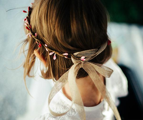 Le headband Rosalie de la collection enfant Ma Petite Chérie, s'adresse aux petites filles de 2 à 6 ans .