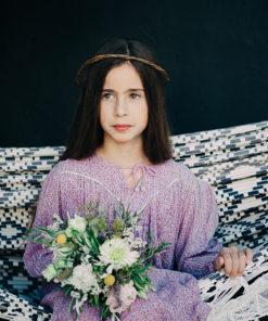 Le headband Ava de la collection Fille de la Balle ( 7-12 ans ) est un modèle bohème.