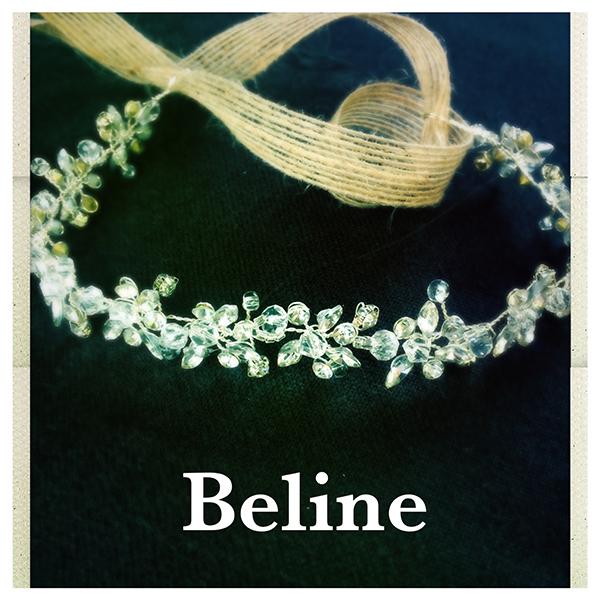Le headband Beline de la collection Courtise-Moi est un modèle élégant composé d'une structure argentée avec des strass. A porter sur le front ou en serre tête.