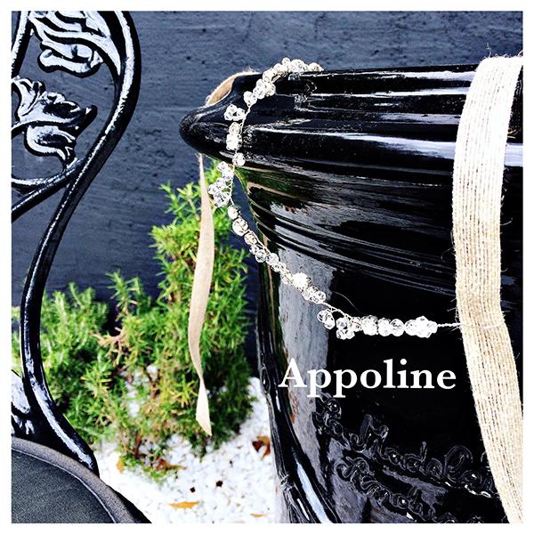 Le headband Appoline de la collection Epouse-Moi est romantique, composé d'une structure fine argentée avec des strass et cristaux juxtaposés.
