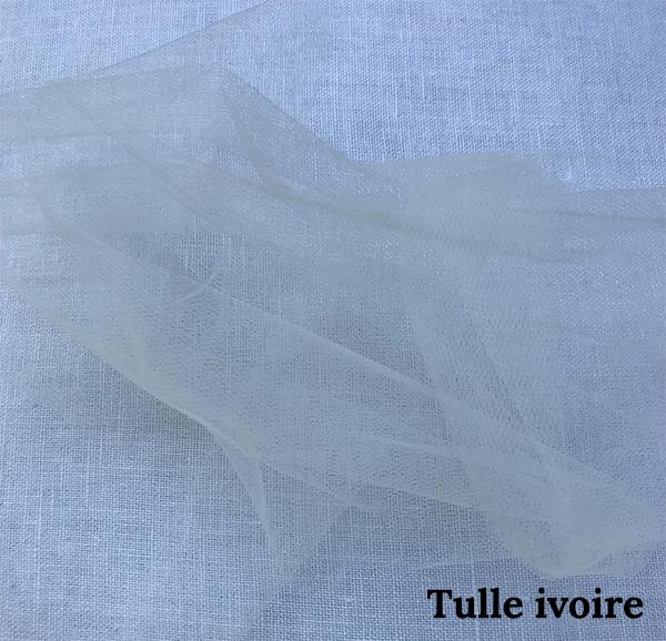 lien tulle ivoire