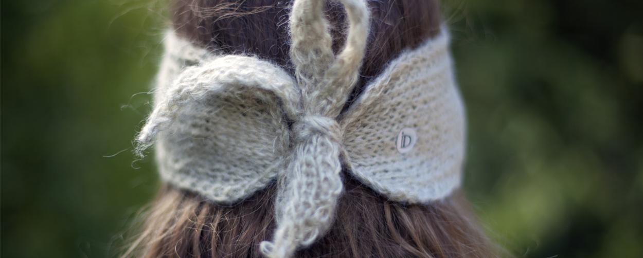 Headband MON SYLVIE ficelle 100% mohair collection Hiver Ida Degliame