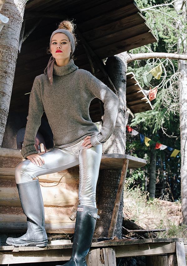 Lookbook hiver Ida Degliame colelction Protège-Moi modèle Mon Lou Gris Souris