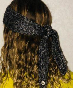 Avec le headband MON JOHNNY gris anthracite & argent de la collection hiver Protège-Moivos oreilles seront bien chaud