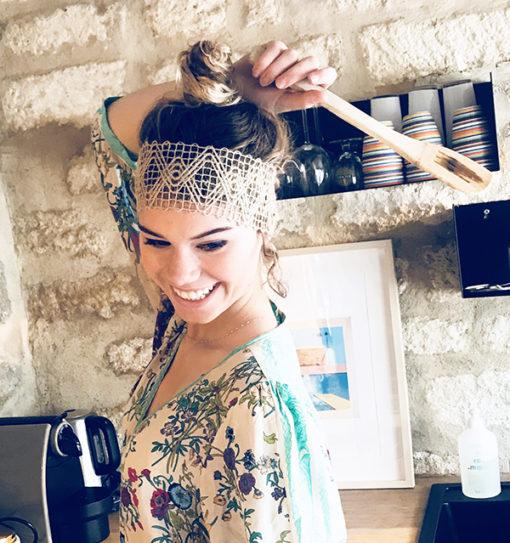 Le headband FORMENTERA Ida Degliame c'est le bandeau de vos vacances.