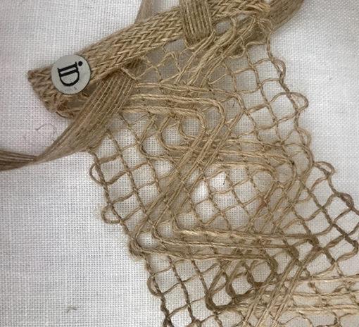 Le headband FORMENTERA Ida Degliame est fait main, 100% chanvre