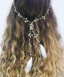 Le headband FANETTE de la collection Epouse-Moi IDA DEGLIAME est un modèle fin, délicat et discret.
