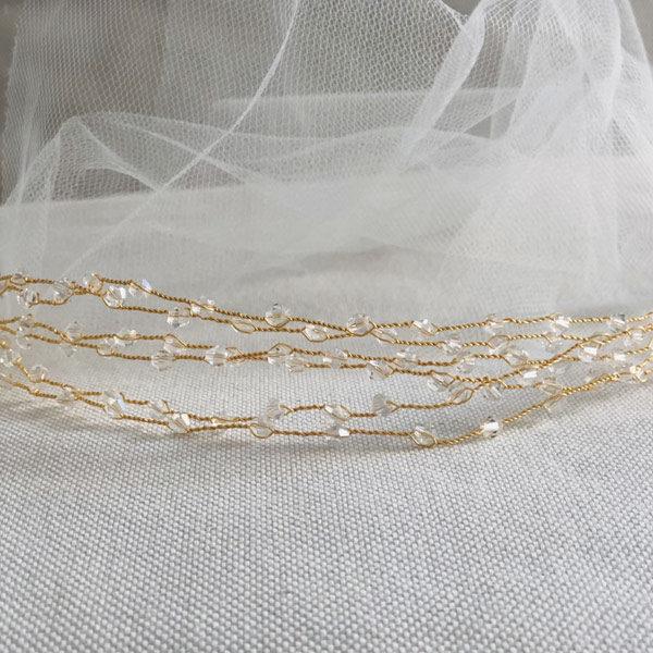 Le headband VENUS de la collection Épouse-Moi IDA DEGLIAME se compose d'un bijou, réalisé à la main.