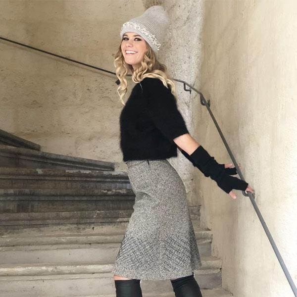 Le bonnet LILA IDA DEGLIAME vous apportera lumière et chaleur pour affronter l'hiver