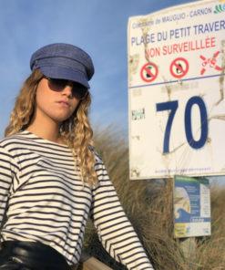 Un petit air de capitaine, la casquette DU BASSIN IDA DEGLIAME vous protégera des rayons du soleil d'été.