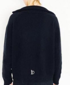 Le pull La Vareuse Amoureuse IDA DEGLIAME couleur noir vous offrira un style masculin féminin.