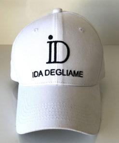 La casquette ID IDA DEGLIAME existe avec le logo ton sur ton ou en duo de couleur blanc et noir