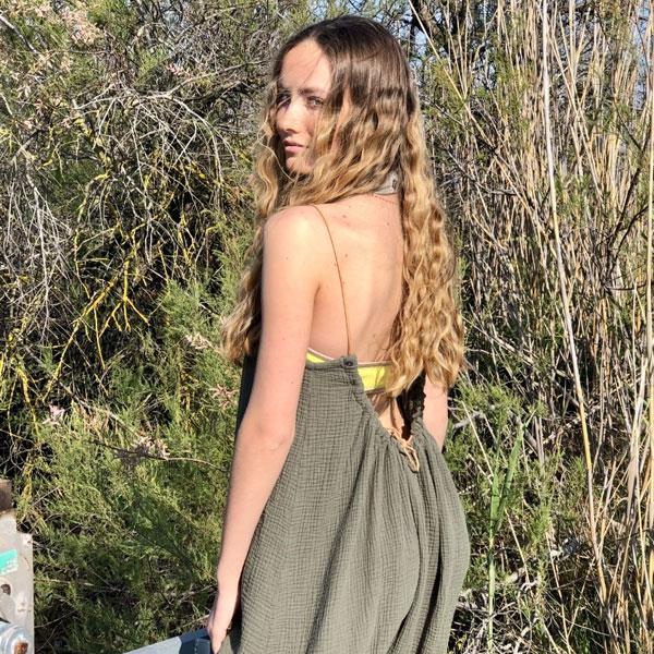 La robe CALI IDA DEGLIAME est créée et fabriquée en FRANCE.